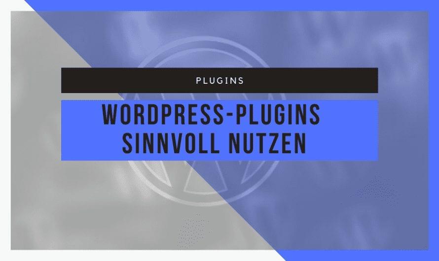 Installation und Nutzung von WordPress-Plugins