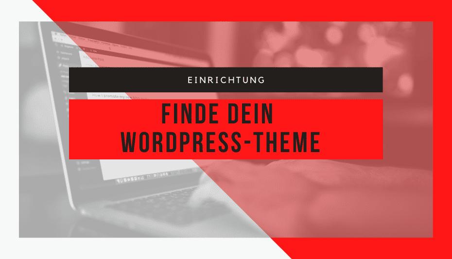 Die Suche nach dem WordPress-Theme 1